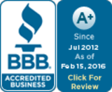 BBB A+ rating | Better Business Bureau logo | Pink Shoe Cleaning Crew | House Cleaning Omaha