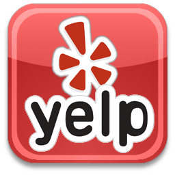 Yelp logo | Pink Shoe Cleaning Crew leave a review on Yelp