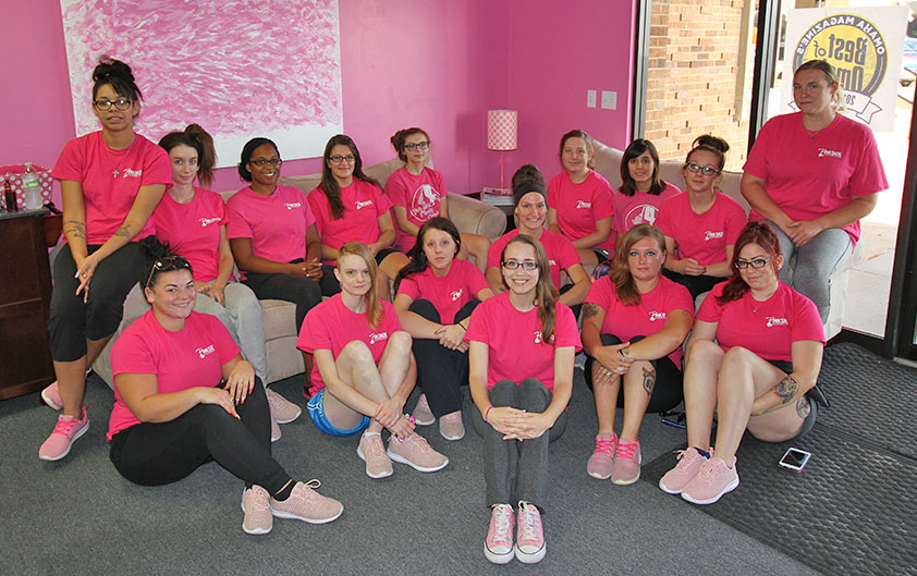 Group Photo of the Pink Shoe Cleaning Crew | Employment Opportunities | job application | omaha