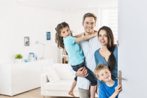 Young Family in a clean home